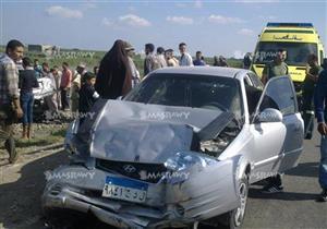مصرع سائق وإصابة 5 آخرين في تصادم مروع في بني سويف