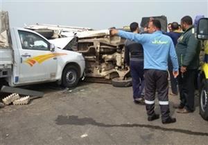 إصابة 9 في حادث تصادم ببني سويف
