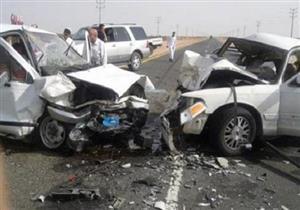 مصرع شخصين وإصابة 6 في تصادم سيارتين بسوهاج