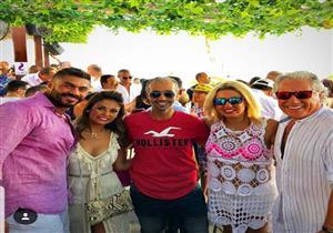 زوجة مصطفى فهمي تهنئ زوجة خالد سليم بعيد ميلادها (صور)