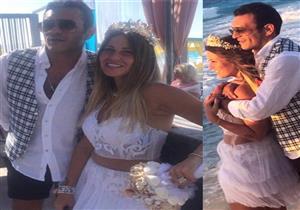 """رقصة العم و""""كاش مايوه"""" ريم البارودي.. 30 صورة لزفاف منة حسين فهمي"""
