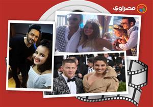 النشرة الفنية  30 صورة من حفل زفاف منة حسين فهمى ومحمد رمضان يوجه رسالة لمنتقديه
