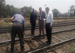 رئيس السكك الحديدية يقرر صرف مكافأة فورية لعامل بمزلقان أبوالنمرس - صور