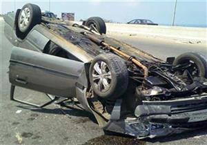 إصابة 5 في انقلاب سيارة ملاكي ببني سويف