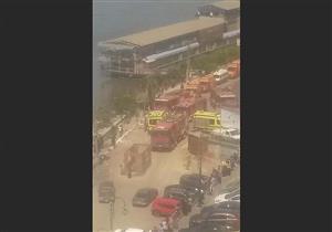 مصرع وإصابة 4 في حريق المطعم العائم بالمنصورة