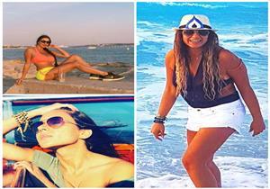 ليالي الصيفية| مايوه نسرين أمين.. وليلى علوى في الساحل