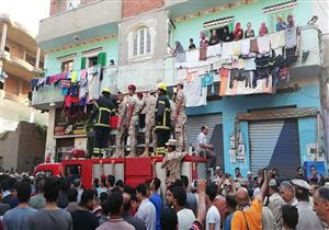 بالصور| أهالي كفرالزيات يشيعون جثمان شهيد القوات المسلحة في سيناء