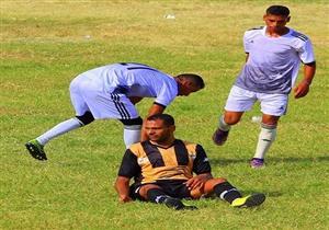 بالصور.. هنا يُقام الدور التمهيدي لكأس مصر.. لاعب يغوص في عشب الملعب