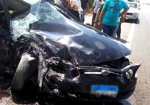 مصرع مواطن وإصابة 2 آخرين في حادث تصادم بطريق 36 الحربي بالإسماعيلية