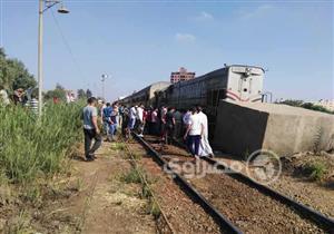 """السكة الحديد: حركة السير لم تتأثر جراء سقوط بوجي قطار """"طنطا منوف"""""""