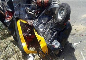 إصابة 4 في تصادم بين تروسيكل وتوكتوك بالبحيرة