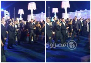 """بالصور- للمرة الثانية.. عادل إمام يحضر مهرجان """"الجونة السينمائي"""""""