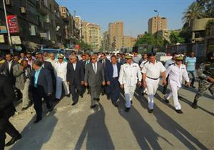 حملة لإزالة الإشغالات في العمرانية بقيادة مدير الأمن ومحافظ الجيزة- صور