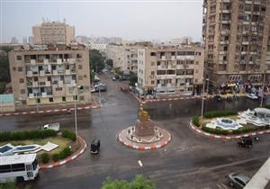 بالصور.. أمطار خفيفة تغسل شوارع وميادين سوهاج ورفع درجة الاستعداد القصوى