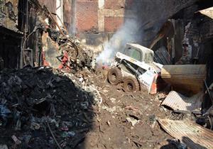 محافظ الدقهلية يتفقد موقع حريق شارع الخواجات بالمنصورة