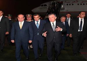 """السيسي يصل إلى """"طشقند"""".. وجلسة مباحثات مع رئيس أوزبكستان غدًا"""
