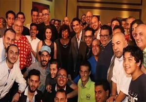 """بالصور- إيناس عبدالدايم وخالد جلال يشاهدان """"أبو كبسولة"""" في الإسكندرية"""