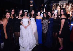 بالصور- تامر حسني وريم البارودي ورنا سماحة في حفل زفاف مينا عطا