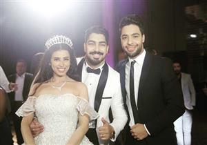 أحمد جمال يهنئ مينا عطا بحفل زفافه