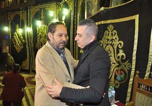 فيفي عبده ونهال عنبر في عزاء سعيد عبدالغني