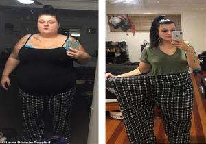 دون دايت أو عمليات.. امرأة تفقد 50% من وزنها بطريقة سهلة (صور)