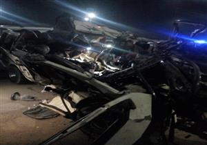 حادث مروع.. مصرع 10 أشخاص بطريق المطار
