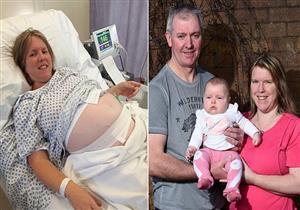 بعد 18 محاولة حمل فاشلة..  سيدة تضع طفلتها في سن 44 عامًا