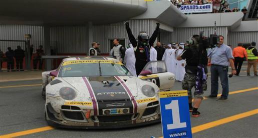 سباق السيارات .. فوز عبد العزيز الفيصل المركز الثالث فى سباق دبى