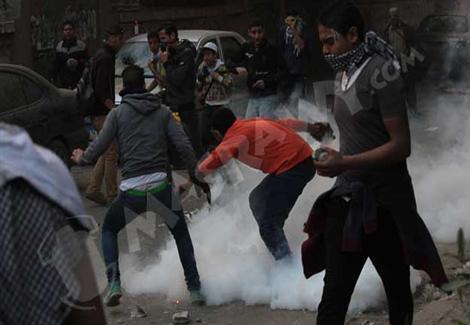 اشتباكات بين قوات الأمن وأنصار مرسي بميدان الألف مسكن