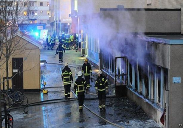 إضرام النار في مسجد بوسط السويد وإصابة 5 مصلين
