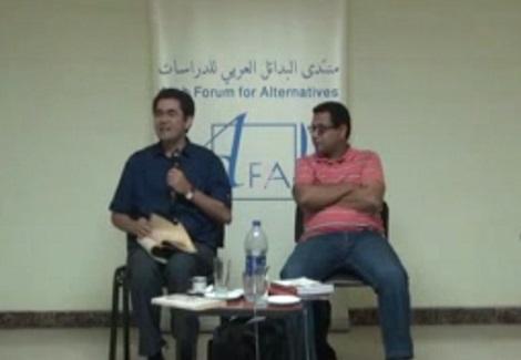 """(4) ندوة """"فلسطين في أشعار فؤاد حداد"""" قراءة وتعليق (أمين حداد، سيد محمود)"""