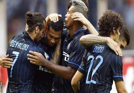 بالفيديو- إنتر يسحق ساسولو بسباعية في الدوري الإيطالي