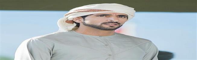 """فيديو - ولي عهد دبي يحلق في السماء """"برداء مجنح"""""""