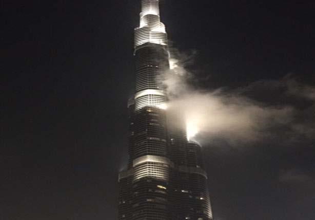 شرطة دبي توضح حقيقة حريق برج خليفة صور مصراوى