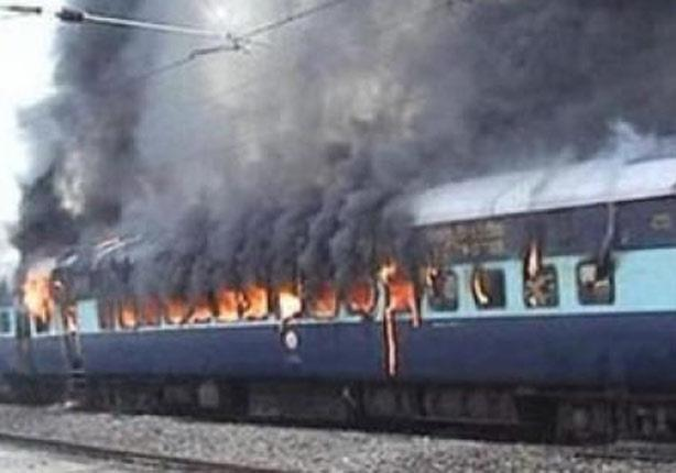 سكك حديد مصر نشوب حريق بعربتي قطار سياحي دون وقوع إصابات مصراوى