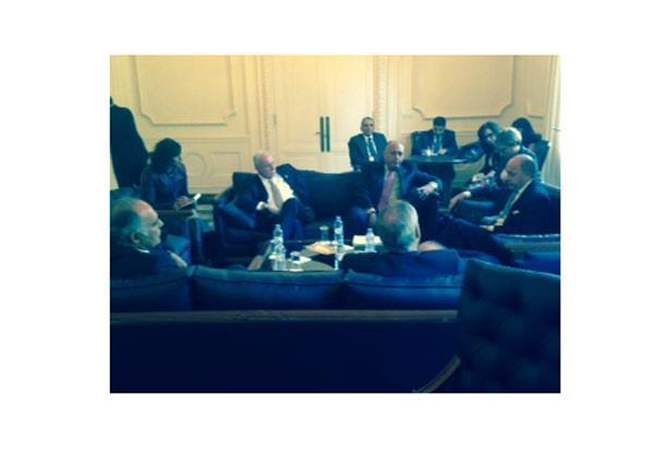 اجتماع عربي فرنسي بشأن فلسطين على هامش اللقاء الوزاري في برشلونة