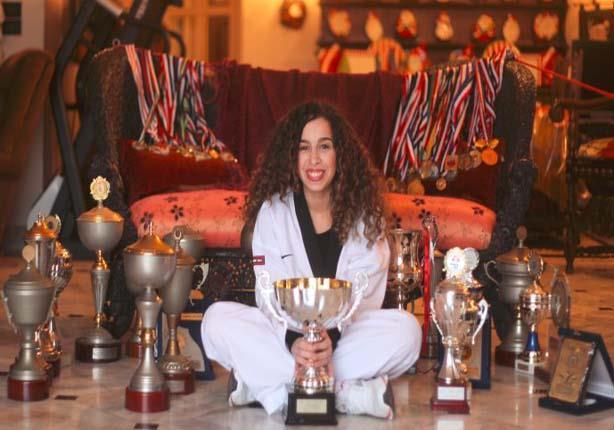 """صاحبة 130 جائزة في التايكوندو في حوار لـ""""مصراوي"""": أحلم بالأولمبياد"""