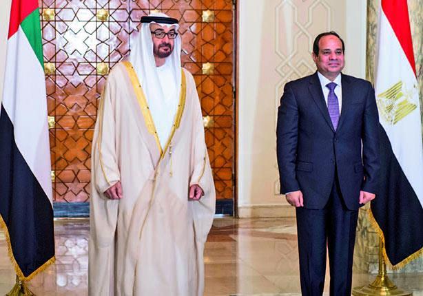 السيسي ومحمد بن زايد يؤكدان أهمية التصدي للجماعات الإرهابية ومموليها
