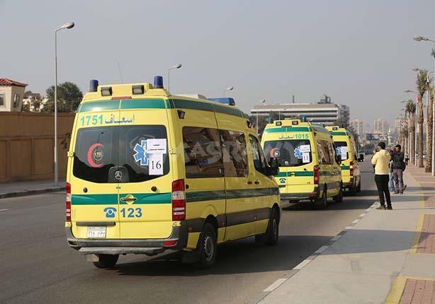 بالأسماء.. إصابة 5 من أسرة واحدة بحادث سير في بني سويف