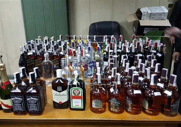 ضبط 1400 زجاجة خمور مجهولة المصدر قبل احتفالات رأس السنة
