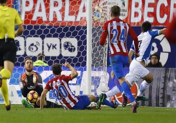 بالفيديو -  أتليتكو مدريد يتعثر على أرضه أمام إسبانيول بالليجا