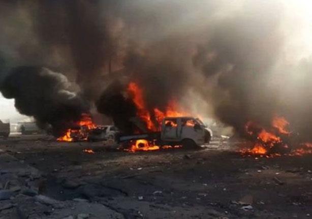 مقتل وإصابة العشرات في غارة جوية على سوق في مدينة القائم غربي العراق