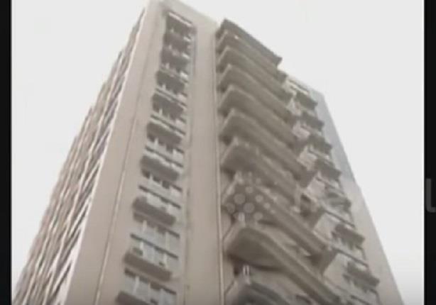 سلالم خارج مبنى شاهق في الصين