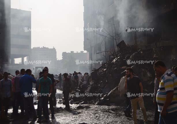 """""""الصحة"""": 3 قتلى و91 مصابًا في حريق سوق الرويعي بالعتبة"""
