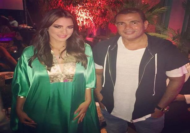 درة تنشر صورتها مع عمرو دياب في حفل سحور