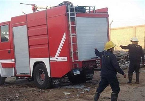 4 سيارات تخمد حريقا في مخزن إشغالات مدينة الشيخ زايد