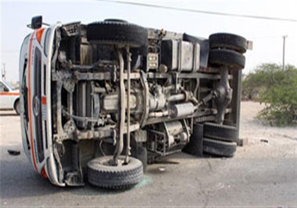 مصرع مجند شرطة وإصابة 11 أخرين فى حادث مروري بأسوان