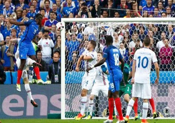 بوجبا يحرز الهدف الثاني لفرنسا من رأسية قوية في مرمى أيسلندا