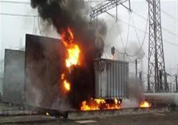 إخماد حريق بمحول كهرباء جامعة خاصة في أكتوبر