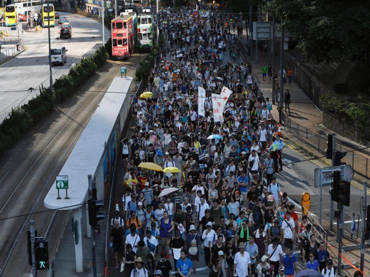 مظاهرة في هونج كونج ضد استغلال القضاء في ملاحقة المعارضين